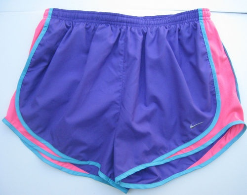 Nike Athletic Shorts Running Purple Neon Pink Turquoise sz L NWT