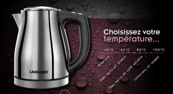 Lagrange lance sa première bouilloire, compacte et avec sélecteur de température | Bien choisir mon electromenager .com