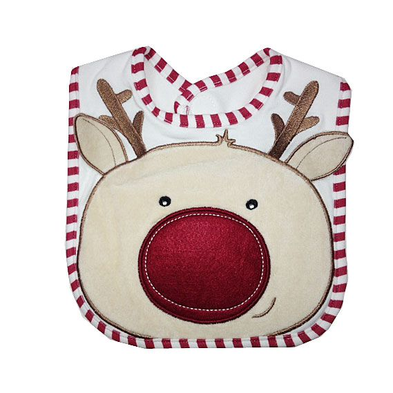 Gorgeous applique Reindeer bib by Nursery Time
