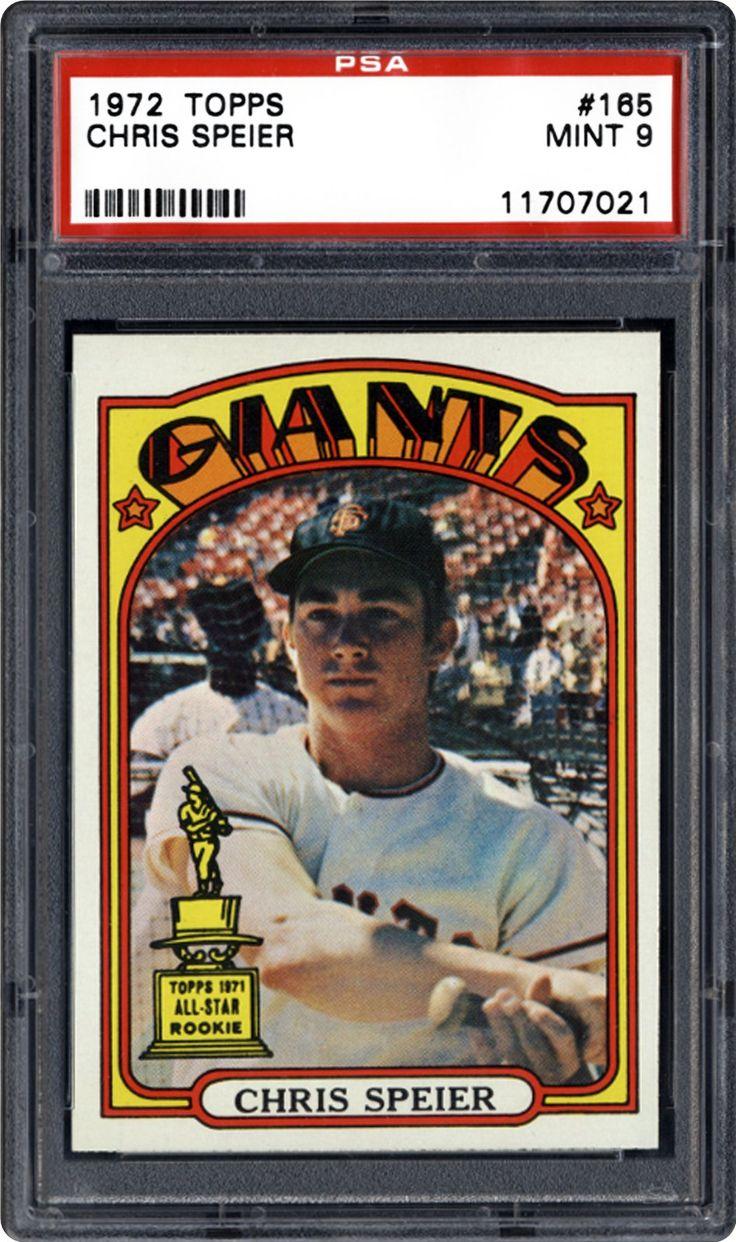 1972 topps 165 chris speier baseball star baseball