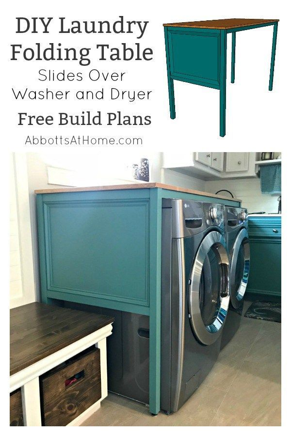 Easy Over Washer And Dryer Diy Laundry Table Laundry Folding Tables Laundry Table Laundry Room Folding Table