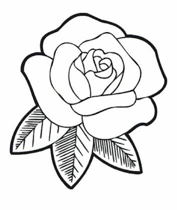 Simple Outline Drawings For Kids の画像検索結果 Tattoo Me Rose