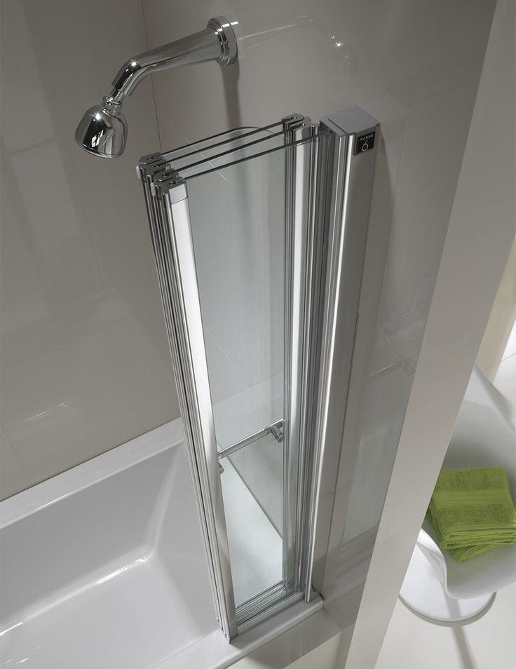 Additional image of Twyford Geo6 4 Fold Bath Screen 1500 x 1000mm - G61979CP