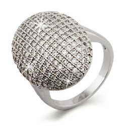 Twilight Inspired Glistening Vampire CZ Engagement Ring