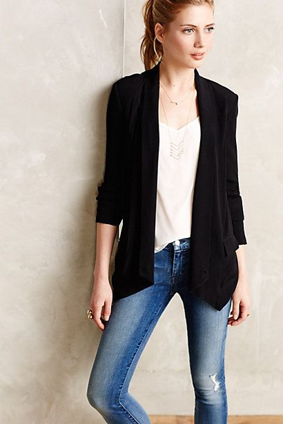 Canace Blazer - anthropologie.com - LOVE this open front blazer- definitely check it out!