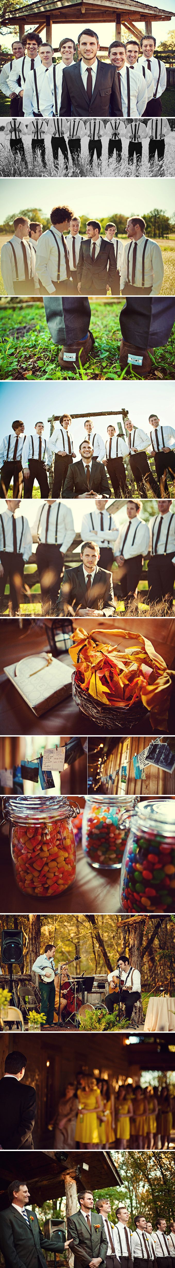 this whole wedding is beautiful! love the outside wedding part, the reception site, and the fact that they have a bonfire for s'mores!!