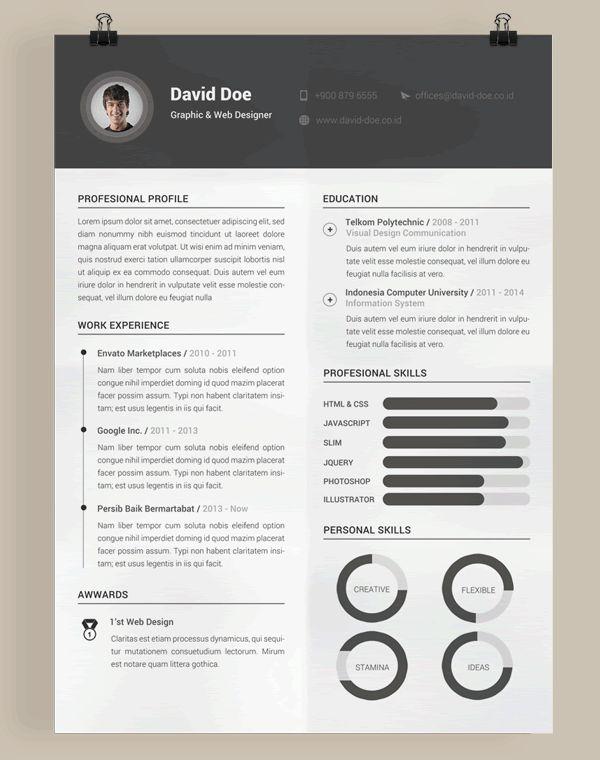20 Beautiful Free Resume Templates For Designers Inspiration - Graphic-design-resume-templates