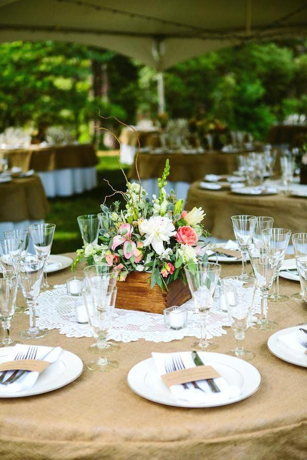 Rustic Country Wedding Romantic Yet Simple Country Wedding Decoration Article Ref Round Wedding Tables Round Table Centerpieces Vintage Wedding Table Settings