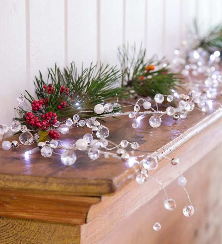 Battery-Operated Lighted Holiday Jewel Garland Would Be