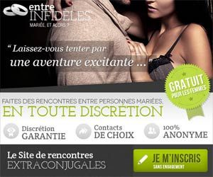 Entre Infidèles propose un service de rencontres extra-conjugales discrètes...