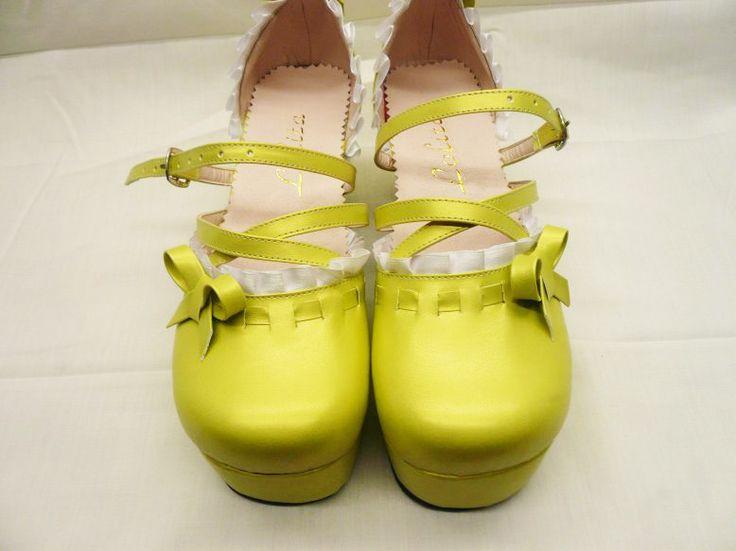 Chaussures elegant gothic lolita noire gothique   Shop : www.steampunk-story.com