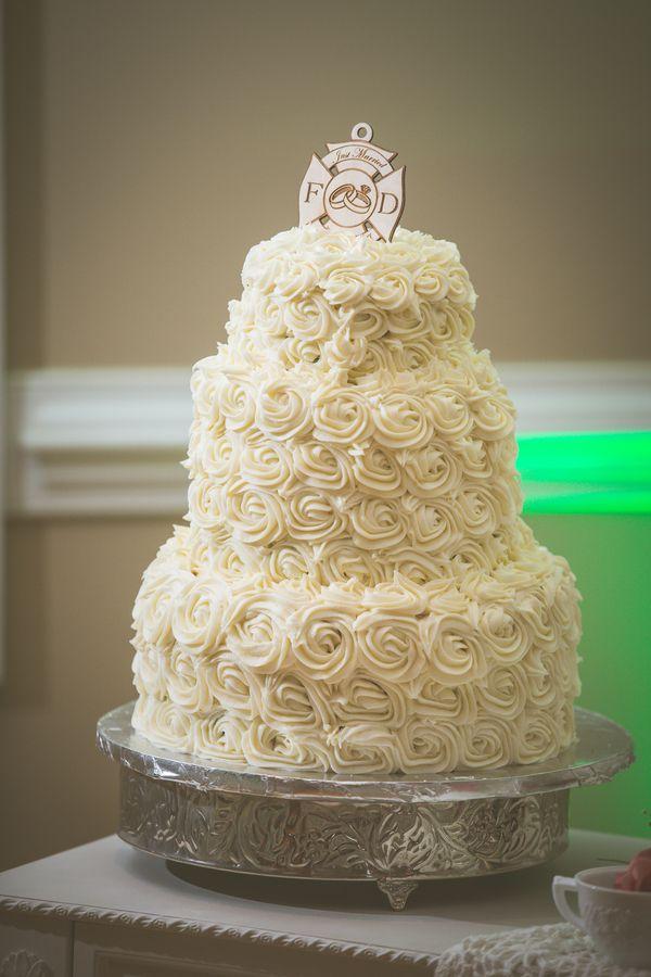 Wedding Cake | Blush And Coral South Carolina Lesbian Wedding | Equally Wed    LGBTQ Weddings