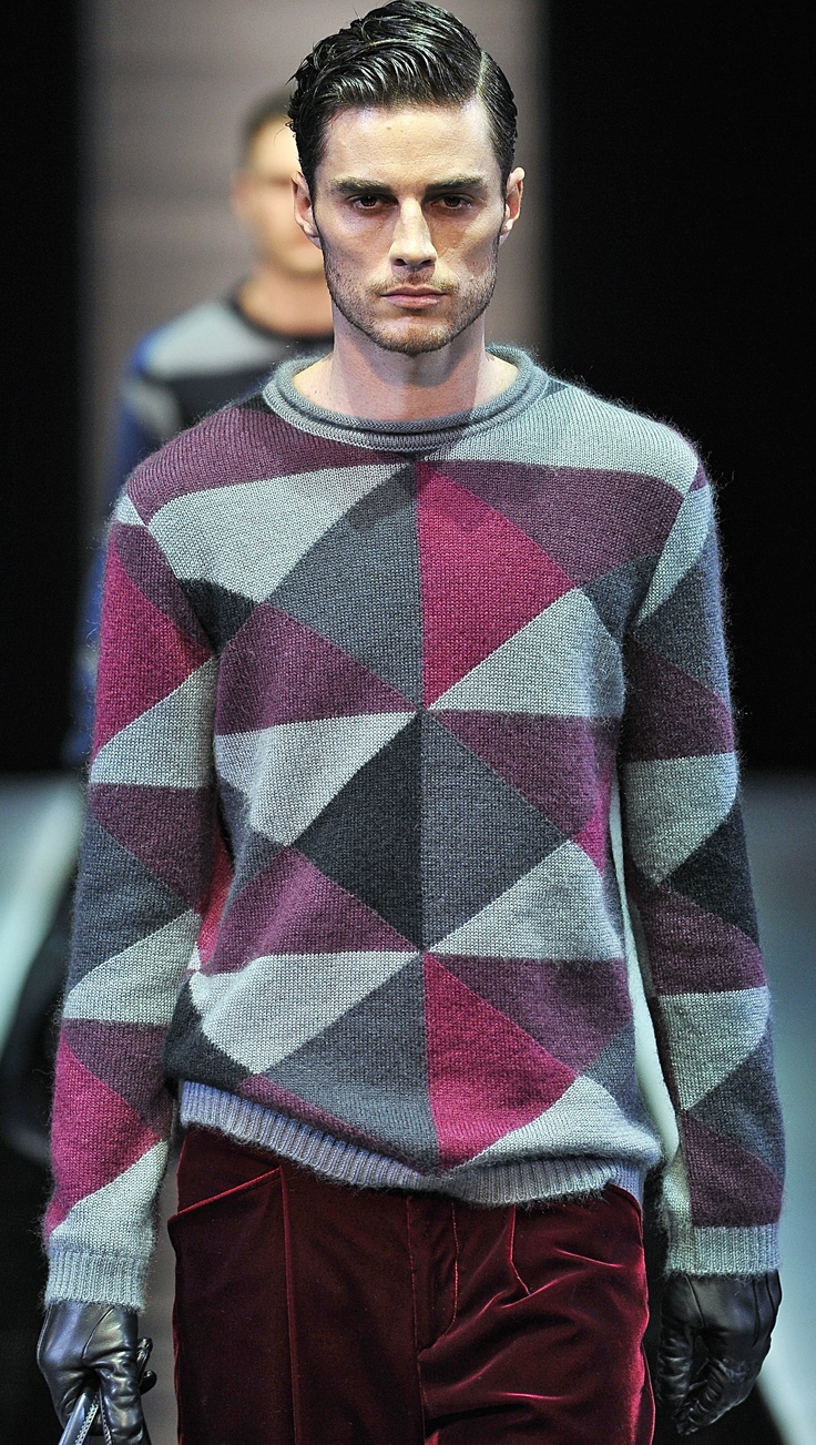 Armani FW13/14 - Milan Mens Fashion Week | Men's Fashion & Style | Men's Apparel | Men's Knitwear | Moda Masculina | Shop at designerclothingfans.com