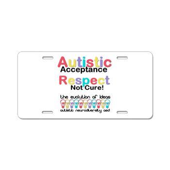 Autistic Acceptance Aluminum #LicensePlate #Autism #ASD #Aspergers #Neurodiversity #AutisticAcceptance