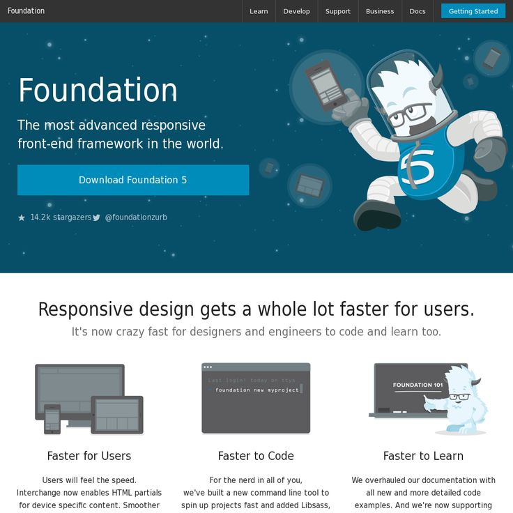 Zurb Foundation 5. The most advanced responsive front-end framework in the world.