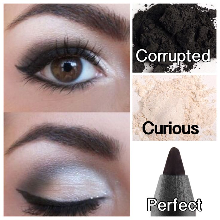 So simple but so stunning! Love this look using Younique Eye Pigments ( curious, corrupted) (Perfect eye liner pencil)