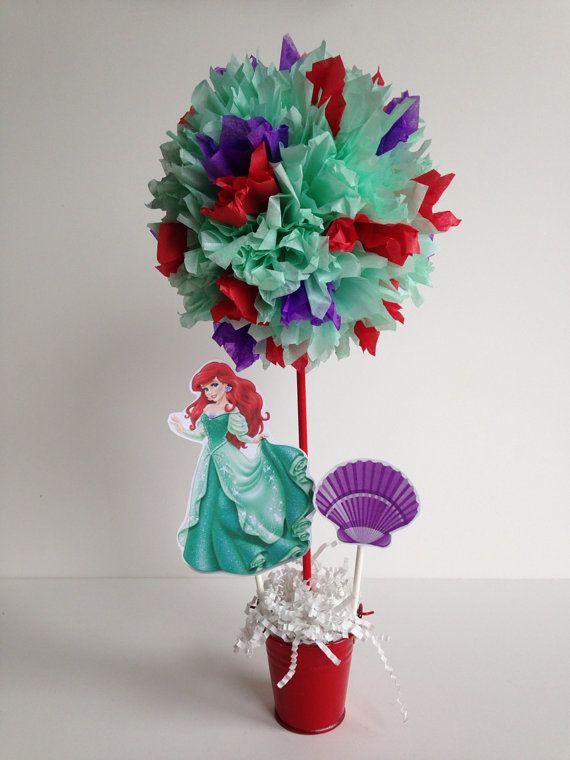 Princess Ariel birthday party decoration by AlishaKayDesigns
