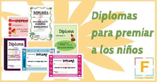 Descárgate estos diplomas para premiar el buen comportamiento o las buenas notas de los niños y niñas en clase o incluso en casa.