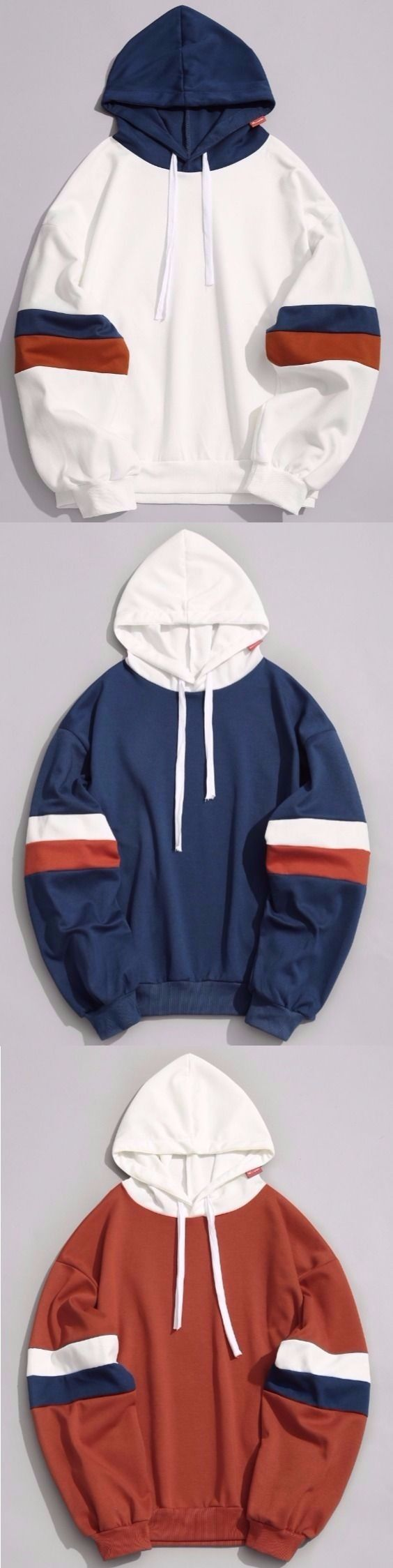 Color Block Mens Hoodie