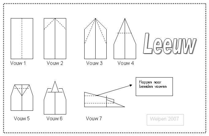 Spellenmap.nl - Vliegtuigjes vouwen