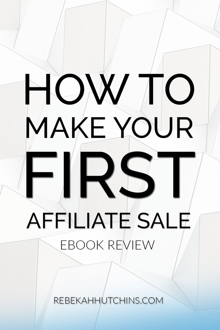 How to make your first affiliate sale ebook review. This ebook covers tips and a tried + true strategy to help you make your first affiliate sale on Pinterest. I highly recommend it for beginners and bloggers who want to make money online and create a source of passive income. Click through to learn more about the ebook!