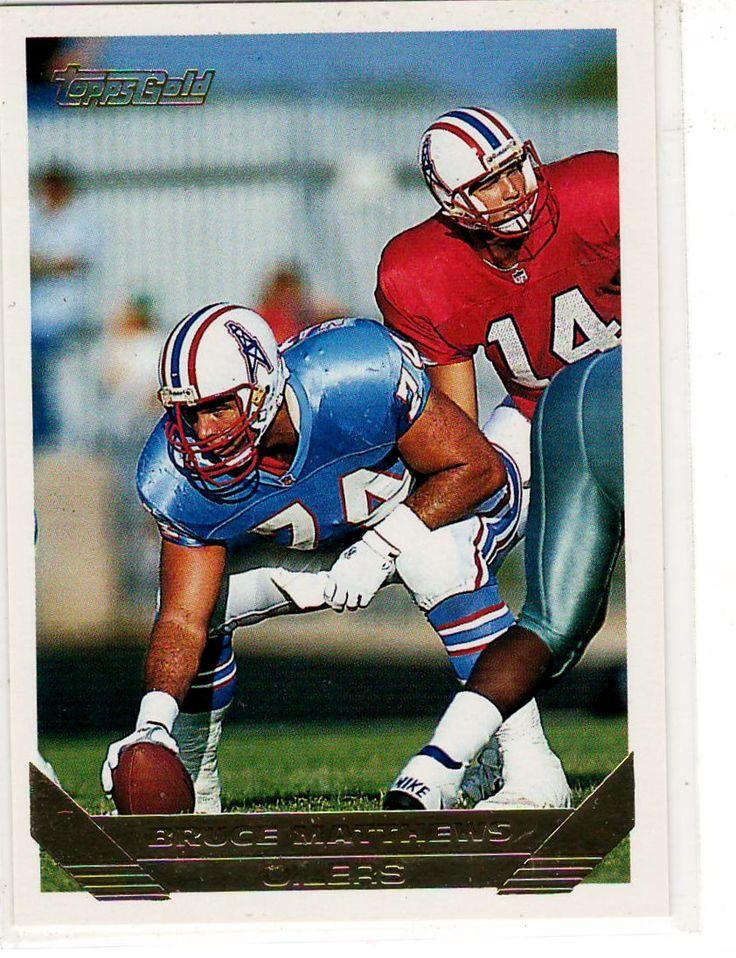 Sports Cards Football - 1993 Topps Gold Bruce Matthews