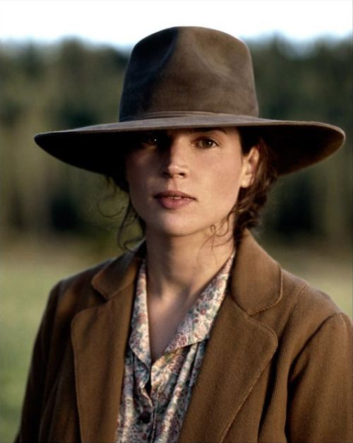 Julia Ormond in Legends of the Fall (1994) ~ Love this hat.