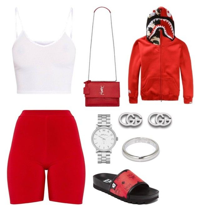 275 by backupoffmee on Polyvore featuring polyvore fashion style WithChic Yves Saint Laurent Gucci Marc Jacobs Cartier MCM clothing