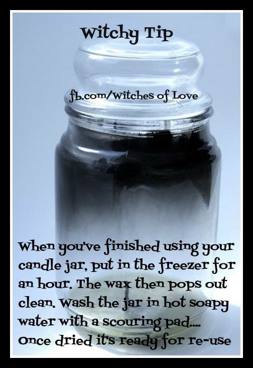 Get wax out of candle jar easily