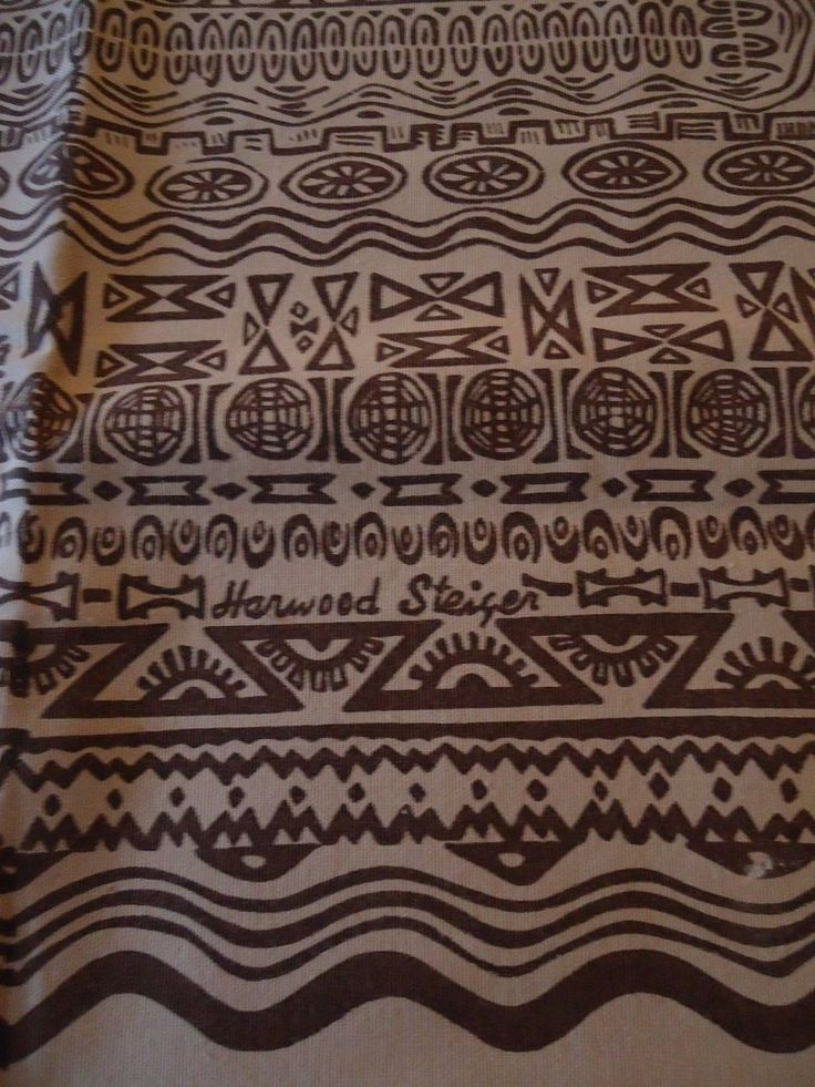Rare Vtg Harwood Steiger Tablecloth Mid Century Southwestern Geometric  Pattern