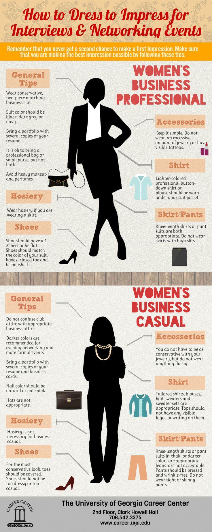 A guide for women on #BusinessCasual & #BusinessProfessional attire.   #DressForSuccess