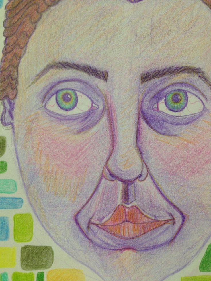 Selfportrait color pencils
