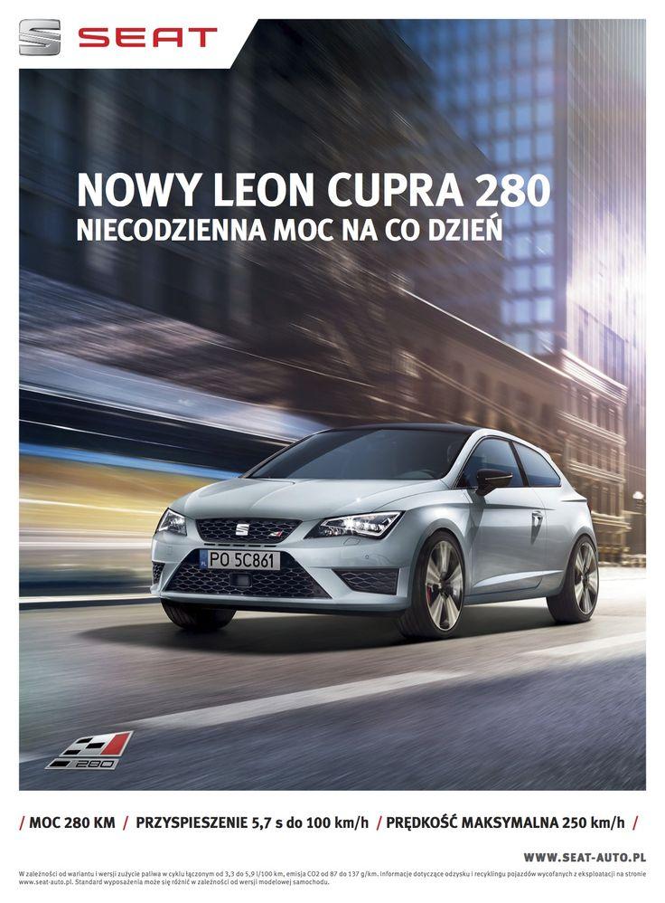 Print advert NEW SEAT LEON CUPRA 280 - Uncommon power for everyday
