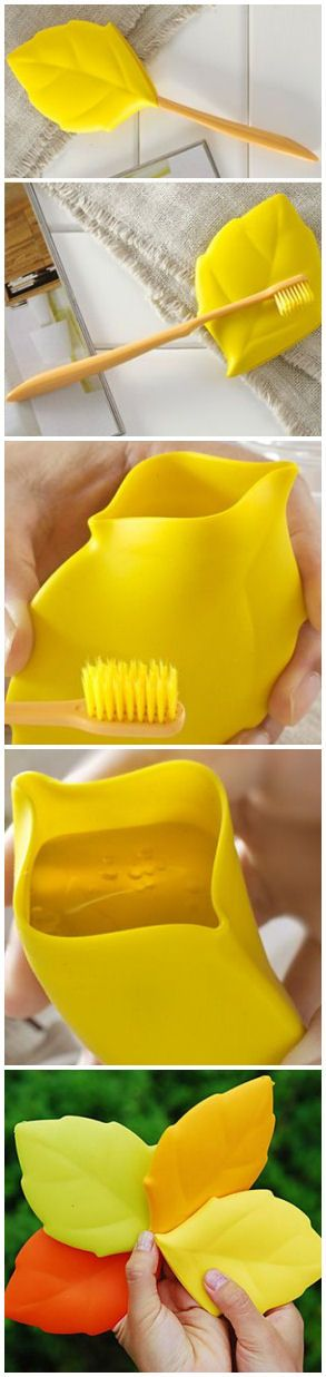 Leaf toothbrush Cover //Converts into a Rinsing Cup! #traveling #camping