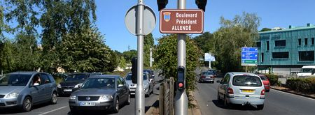 Montluçon. Boulevard Président Allende. Francia