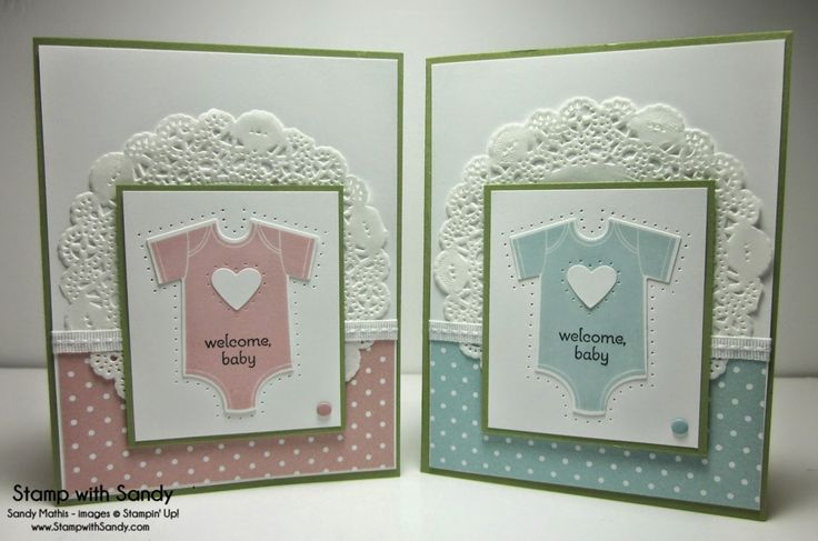 Stamp With Sandy: His  Hers New Baby Cards, Something for Baby Stamp Set, Stamping Up