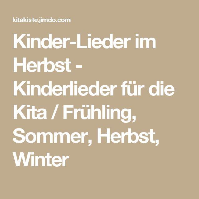 Good Kinder Lieder im Herbst Kinderlieder f r die Kita Fr hling Sommer Herbst