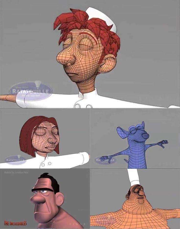 Pixar Wireframe still