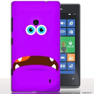 Coque telephone portable Nokia Lumia 520 Monstre Violet - Coque  pour Smartphone Nokia 520 Lumia. #Coque #Nokia #520 #Monster