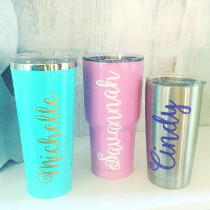 Name Decal // Yeti  Decal // SIC Decal // RTIC Decal // Corkcicle Decal // Personalized Cup // Custom Tumbler // Vinyl Decal // Gift by ForeverYoungCo on Etsy https://www.etsy.com/listing/276228840/name-decal-yeti-decal-sic-decal-rtic