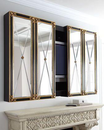 mirrored tv cabinet 3