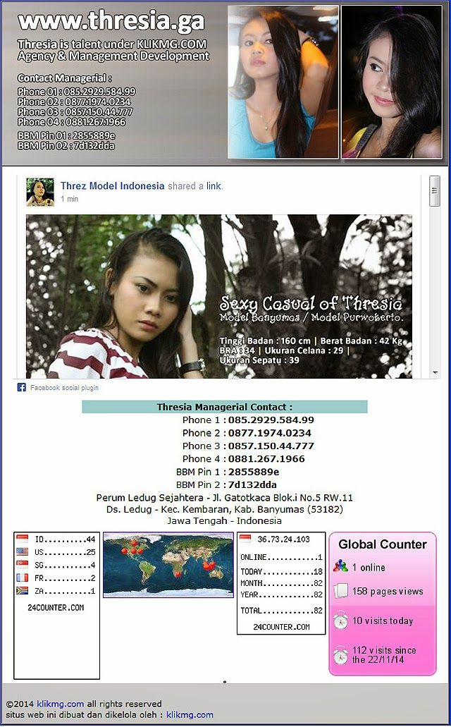 blog.klikmg.com - Fotografer Jakarta: thresia.ga - situs web official resmi - Thresia Model / Talent dibawah kelola Klikmg