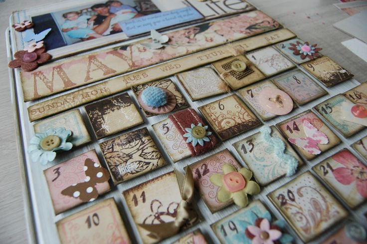 Cookie Sheet Calendar - with tutorial link! by angelfehr - Cards and Paper Crafts at Splitcoaststampers