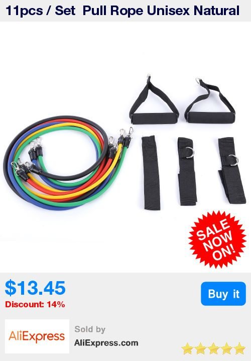 11pcs / Set  Pull Rope Unisex Natural Rubber Latex Fitness Resistance Bands Exercise Tubes Practical Elastic Training Rope * Pub Date: 02:28 Sep 20 2017