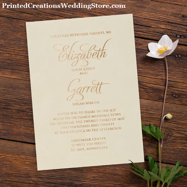 elegant wedding invites coupon codes%0A Velvet Love Invitation  foil stamped printing makes this a truly elegant  wedding invitation design