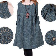 Çiçekli Uzun Kollu Annelik Giydir Pamuk / Keten Gebelik için Hamile Kadın Sonbahar Giyim Giyim 2014 Yeni Moda 1345 (Çin (Anakara))