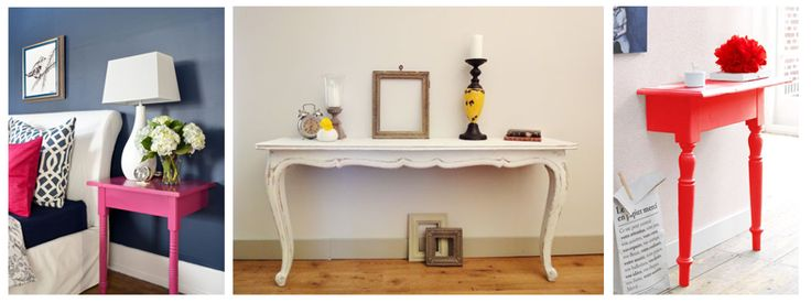 idee di riciclo creativo dimezzando vecchi tavoli