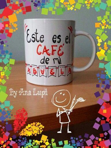 #Taza personalizada #regalo para la #abuela con frase este café es de mi abuela