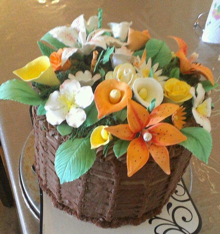 Gumpaste Flower Basket Pictures 45