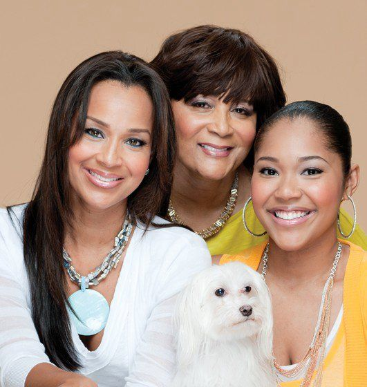 Today is my mommy's birthday so i thought i'd post a pic from our Jet magazine shoot...in the pic: the woman that gave me birth plus my daughter that I gave birth to...3 generations!!